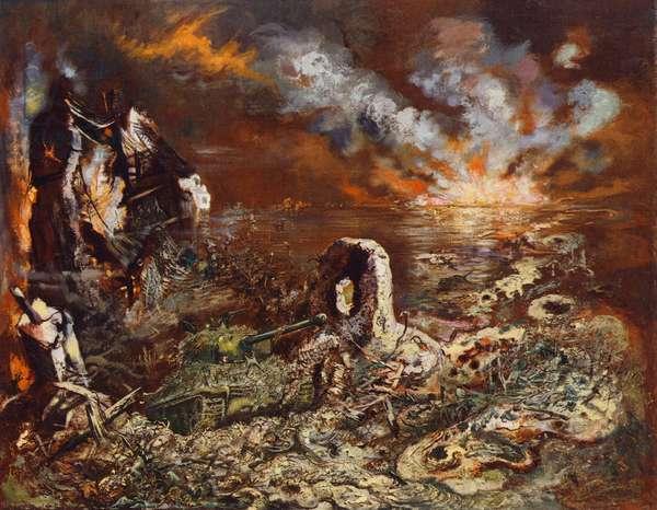 WW2 scenes: The Juggernaut (colour litho)