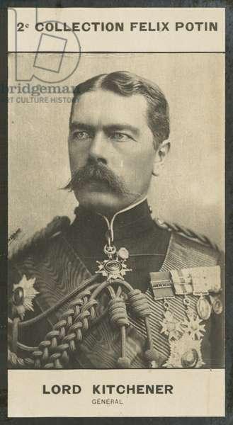 Lord Herbert Kitchener, General, 1850 (b/w photo)