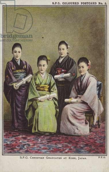 Christian graduates at Kobe, Japan (colour photo)
