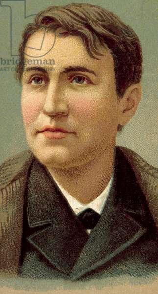 Thomas Alva Edison (chromolitho)