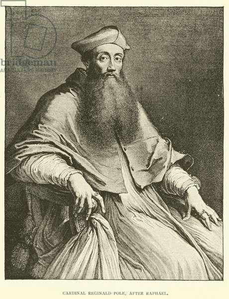 Cardinal Reginald Pole, after Raphael (engraving)