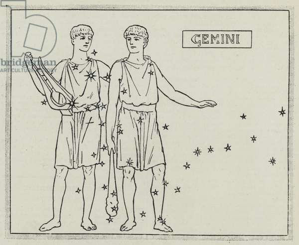 Signs of the zodiac: Gemini (engraving)