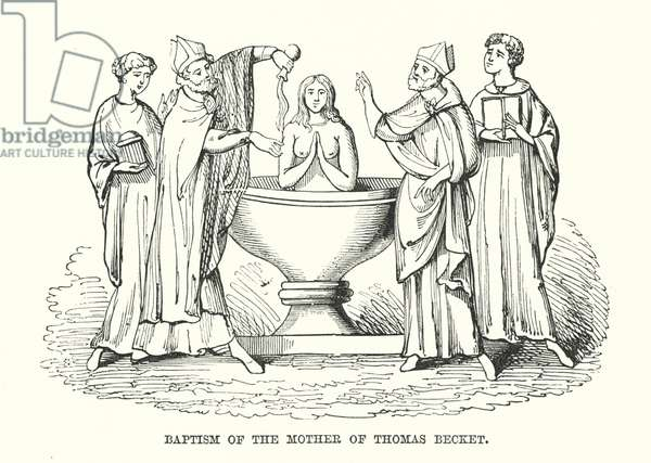 Baptism of the Mother of Thomas Becket (engraving)