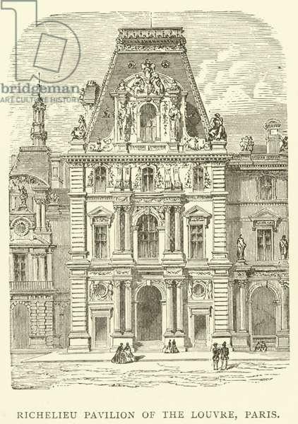 Richelieu Pavilion of the Louvre, Paris (engraving)