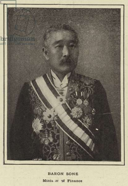 Baron Sone, Minister of Finance (b/w photo)