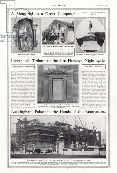 Page from The Sphere, 11 October 1913 (b/w photo)