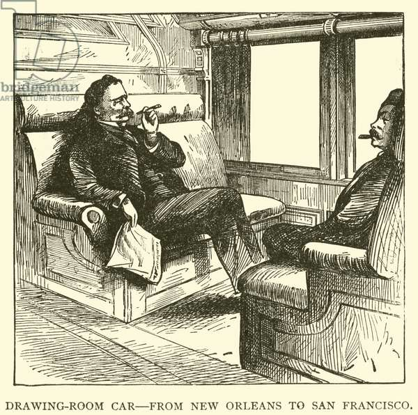 Drawing-Room Car, from New Orleans to San Francisco (engraving)