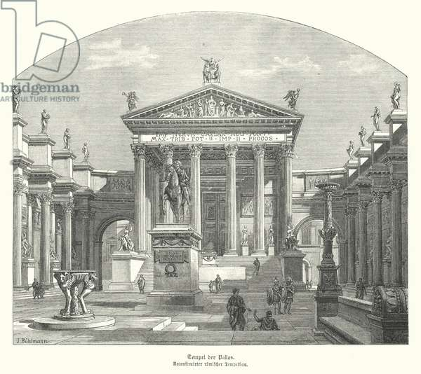 Roman Temple of Pallas (engraving)