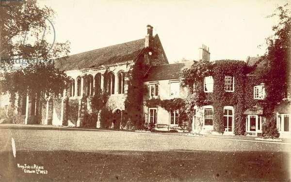 King John's Palace, Eltham (b/w photo)
