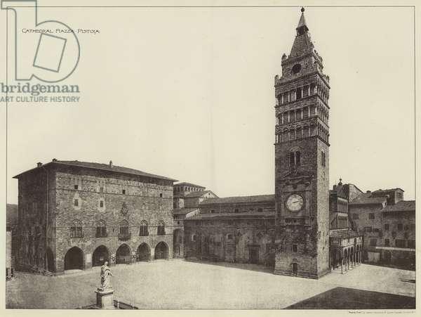 Cathedral, Piazza, Pistoia (b/w photo)