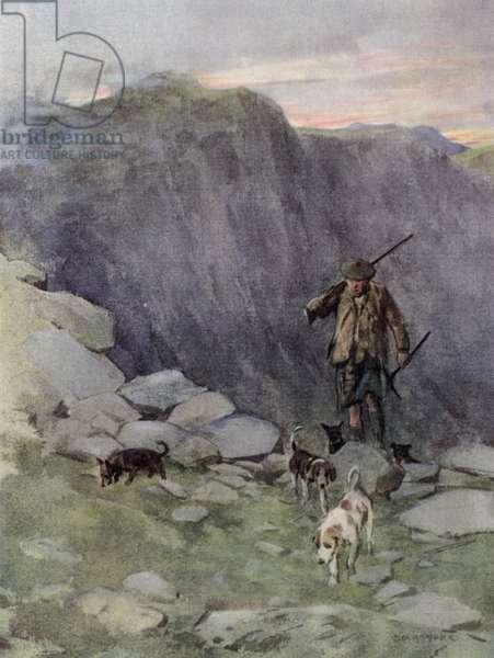 The Highland fox-hunter (colour litho)