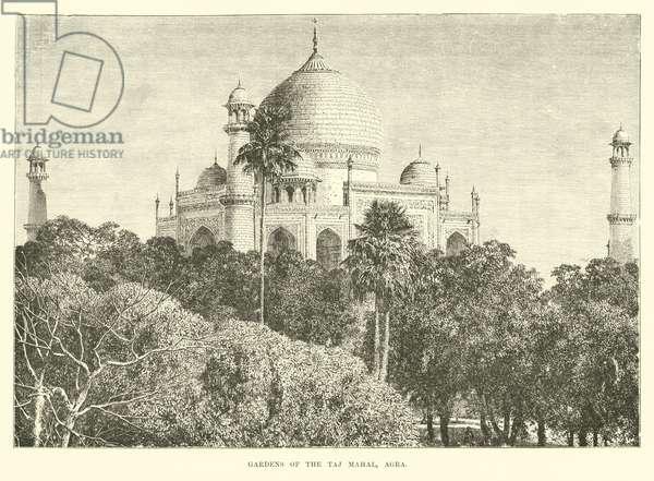 Gardens of the Taj Mahal, Agra (engraving)