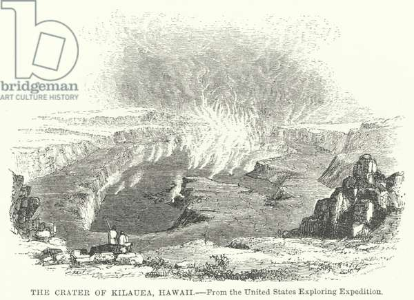 The Crater of Kilauea, Hawaii (engraving)