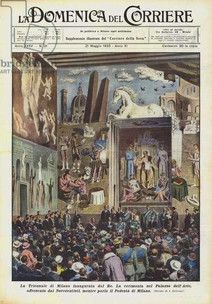 La Triennale di Milano inaugurata dal Re (colour litho)