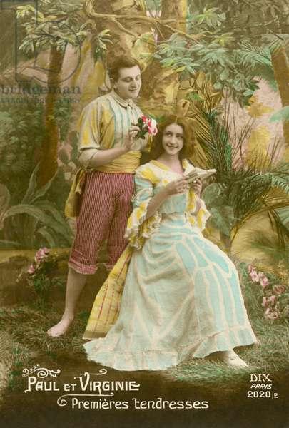 Paul and Virginia (colour photo)