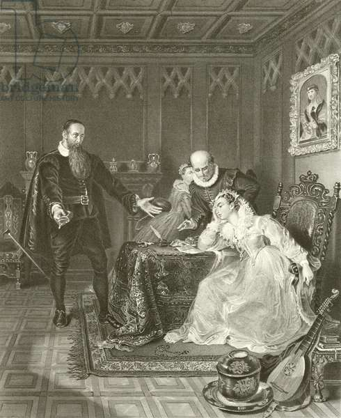 John Knox admonishing Mary Queen of Scots (engraving)