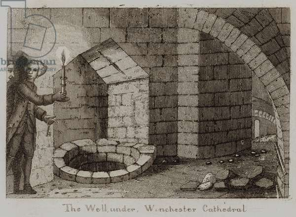 The Well, under Winchester Cathedral (engraving)