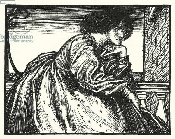 Matthew Arnold poem: A Modern Sappho (engraving)