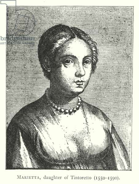 Marietta, daughter of Tintoretto, 1550-1590 (engraving)