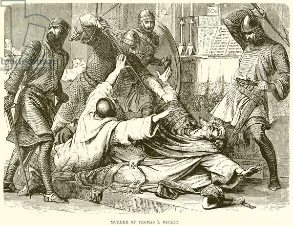 Murder of Thomas a Becket (engraving)