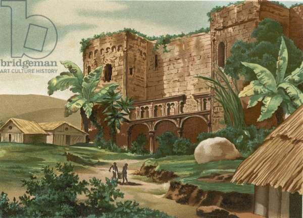 Ruins of the castle of Columbus in Santo Domingo