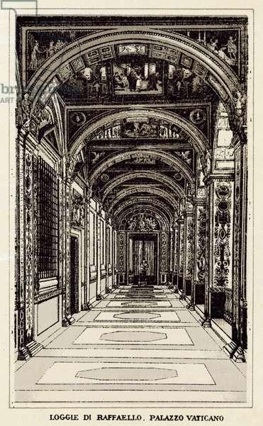 Roma: Loggie Di Raffaello, Palazzo Vaticano (litho)