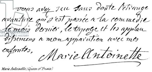 Marie Antoinette, (Queen of France) (engraving)