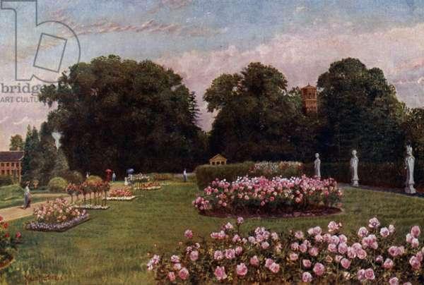 Kew Gardens: In the Italian Garden (colour litho)