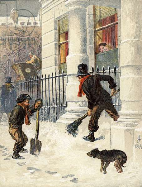 The Snow Sweepers (colour litho)