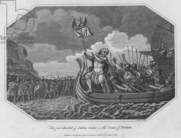 The first descent of Julius Caesar on the Coast of Britain (engraving)