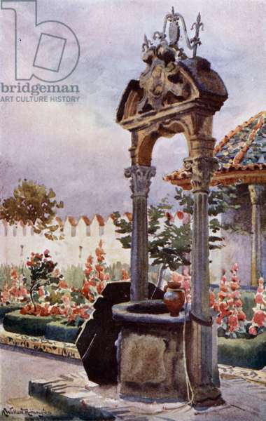 In a Garden of Andalusia (colour litho)