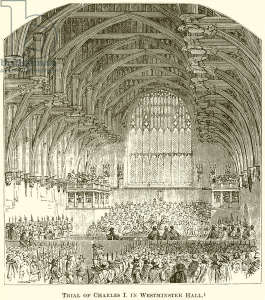 Trial of Charles I in Westminster Hall (engraving)