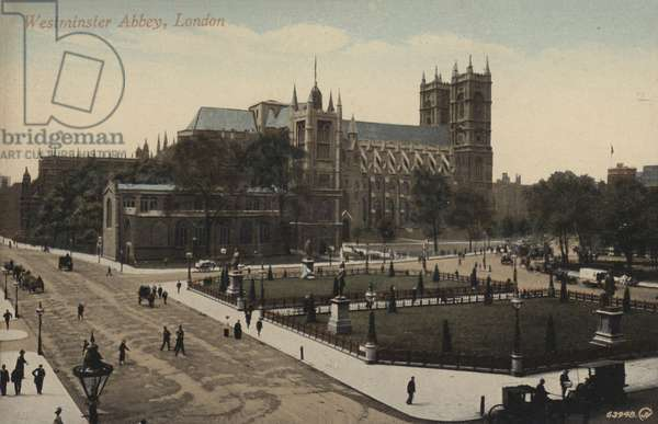 Westminster Abbey, London (coloured photo)
