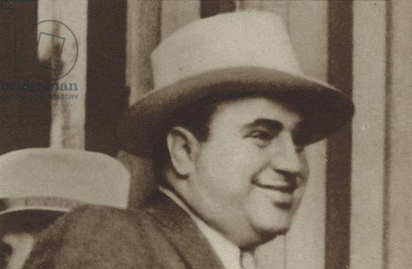 Al Capone, American gangster (b/w photo)