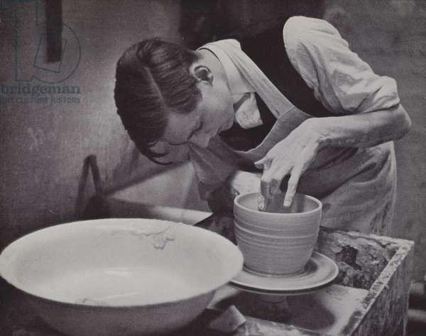 Pottery at Eton (b/w photo)