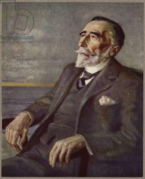 Portrait of Joseph Conrad (colour litho)