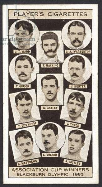 Association Cup Winners, Blackburn Olympic, 1883 (litho)