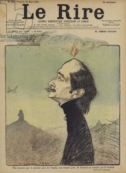 Edmond Rostand, Illustration for Le Rire (colour litho)