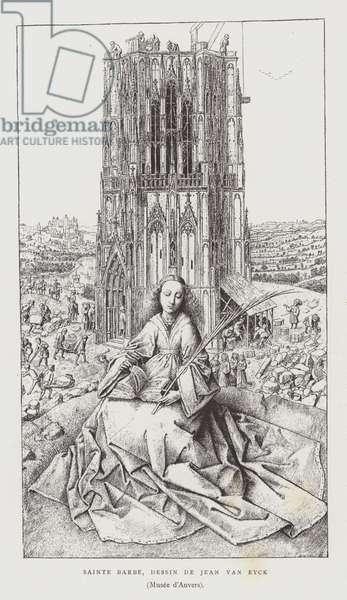 St Barbara, 1437 (litho)