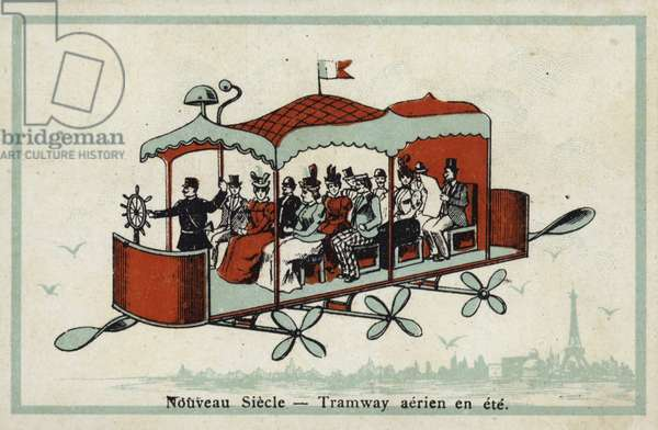 New century - aerial tramway in the summer (chromolitho)