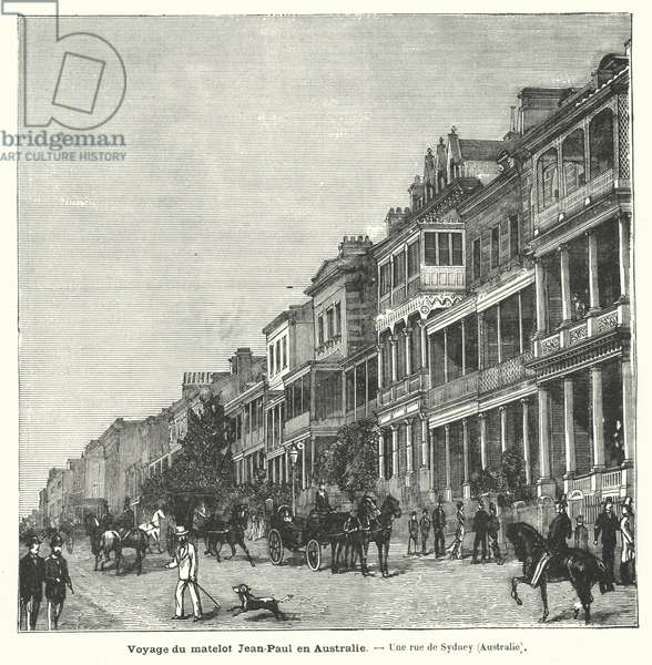 Street in Sydney, New South Wales, Australia (engraving)