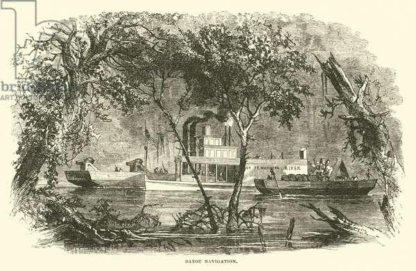 Bayou Navigation, March 1863 (engraving)