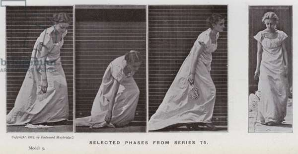 The Human Figure in Motion: Selected phases from series 75 (b/w photo)