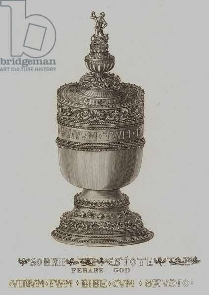 Ancient Cup, said to have belonged to Thomas A Becket (engraving)
