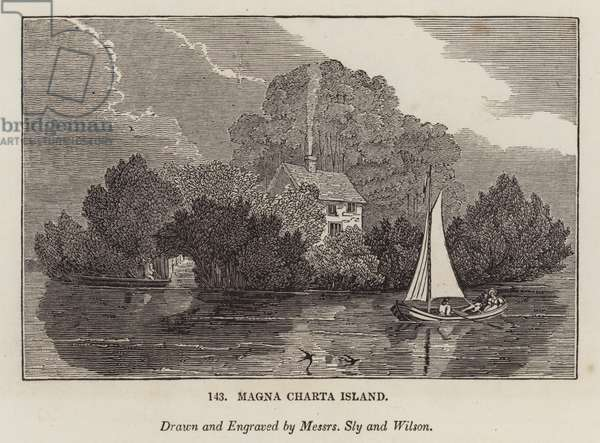 Magna Charta Island (engraving)
