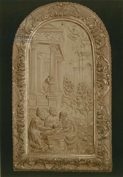 Bas relief representing a battle between the Jews and the Philistines