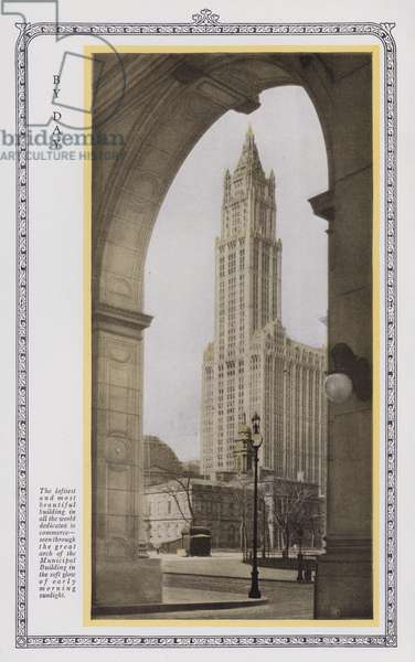 The Woolworth Building, New York: By Day (b/w photo)