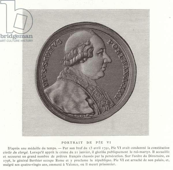 Pope Pius VI (engraving)
