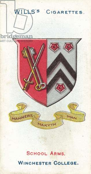 Winchester College, Manners Makyth Man (colour litho)