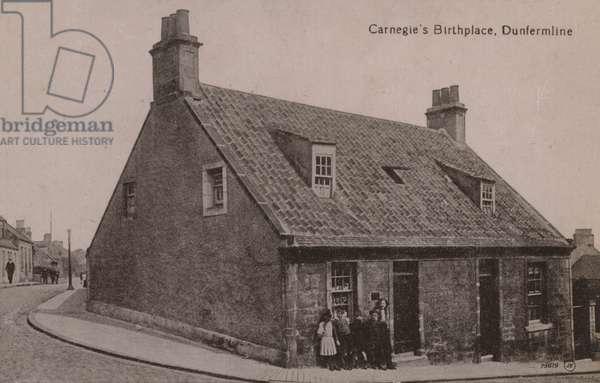 Carnegie's Birthplace, Dunfermline (b/w photo)